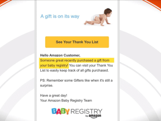 Amazon glitch sends baby registry emails to people who aren't expecting