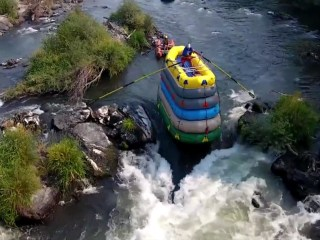 This Man Takes White-Water Rafting to a Whole New Level (Literally)