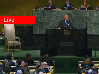 Watch Live: Trump Addresses the United Nations General Assembly