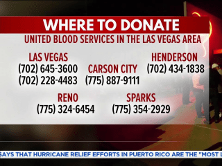 Where to donate blood for Las Vegas victims