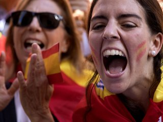 Thousands March In Barcelona, Supporting  United Spain