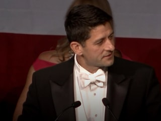 Speaker Paul Ryan Unleashes Fusillade of Trump Jokes at Al Smith Dinner