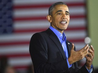 Obama Jokes About 'Four More Years' While Campaigning for NJ Governor Nominee