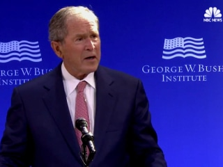 Bush Says Public Discourse in U.S. 'Degraded by Casual Cruelty'