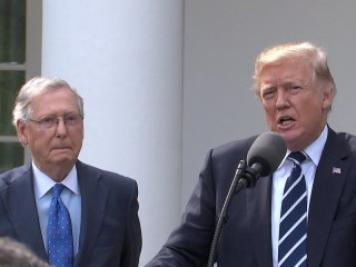 Trump, McConnell Tout 'Outstanding' Relationship at WH Press Conference