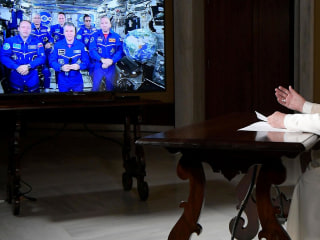Pope Francis Talks to Space Station Astronauts