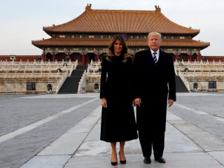 President and First Lady Tour Beijing's Forbidden City