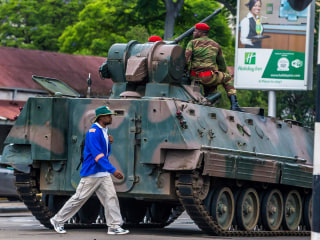Soldiers on the streets as power changes hands in Zimbabwe