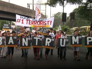 Anti-Trump Protesters in the Philippines Clash with Police