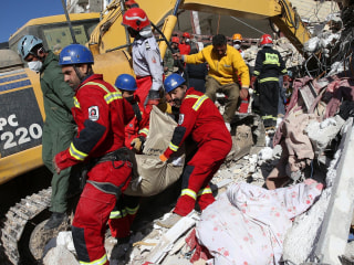 Rescuers Search for Survivors in Town Hit Hard by Iranian Earthquake