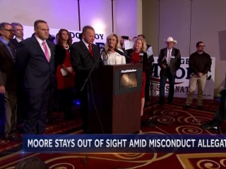 Roy Moore is invisible on his own campaign trail