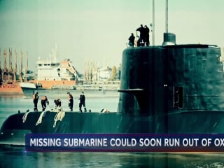 Missing submarine could soon run out of air