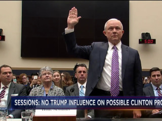 Sessions: No Pressure to Launch New Clinton Investigation