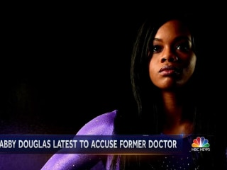 Olympics star Gabby Douglas says team doctor Larry Nassar abused her