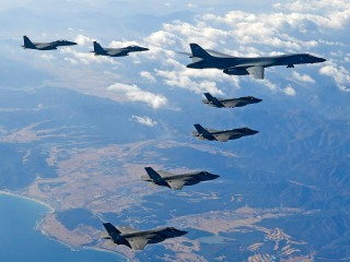 U.S. supersonic bomber leads attack drill over Korean peninsula