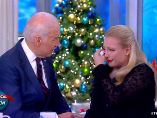 Watch Joe Biden console Meghan McCain about her father's cancer battle