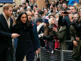 'Meghan-mania': Crowd cheers for Markle, Prince Harry at first joint event