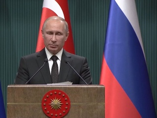 In joint press conference, Presidents Putin and Erdogan condemn U.S. position on Jerusalem