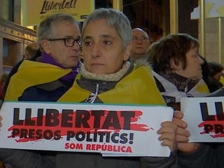 Thousands protest in Barcelona over detention of Catalan leaders