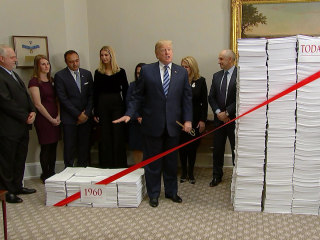 Trump touts 'regulatory savings' at White House event