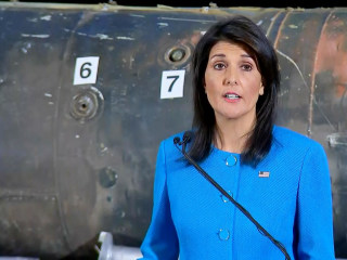 Nikki Haley displays missile, other evidence Iran supplying Yemen rebels