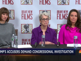 Trump accusers share stories, senator calls for congressional investigation