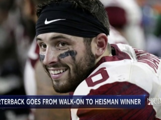 Oklahoma quarterback first walk-on player to win a Heisman trophy