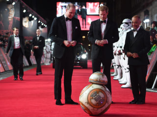 Prince William and Prince Harry attend 'The Last Jedi' premiere in London