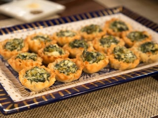 From stuffed spuds to baked brie, try these savory treats at your next holiday bash