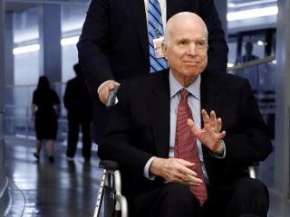 John McCain receiving treatment at Walter Reed Medical Center