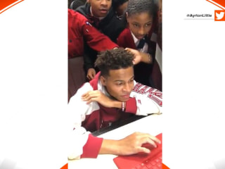 Watch this teen's classmates cheer for his acceptance into Harvard
