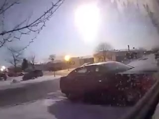 Meteor lights up the night sky