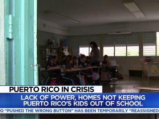 Puerto Rico's students still learning in the dark 100 days after Hurricane Maria