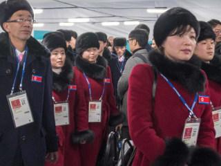 North Korean athletes arrive for PyeongChang Olympics