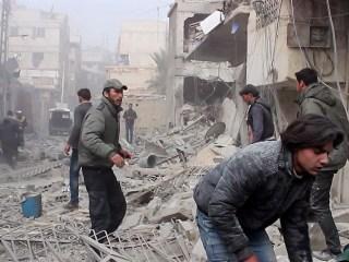 Barrel bombs, rockets kill hundreds in rebel-held eastern Ghouta
