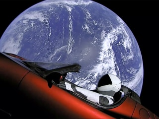 Starman in the sky: SpaceX launches car into orbit