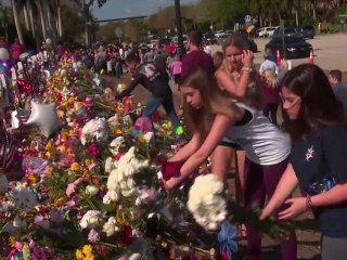 Students return to Marjory Stoneman Douglas High School for the first time since shooting