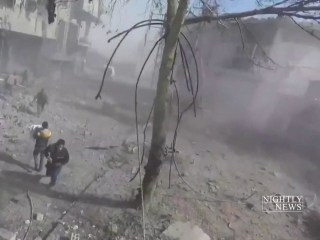 Hundreds killed near Damascus in bombing campaign by Syrian government