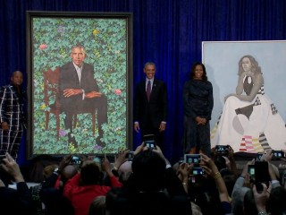Barack and Michelle Obama have official portraits unveiled