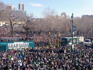 Thousands flood Philadelphia streets for Eagles Super Bowl victory parade