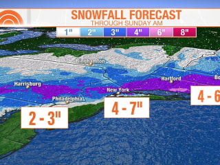 Northeast could see up to 6 inches of snow with fast-moving storm