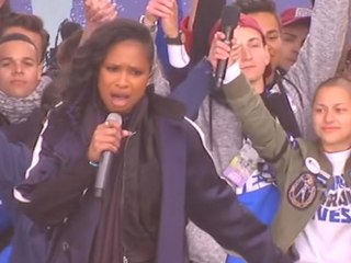 Jennifer Hudson, gun violence victim, joins Parkland students for rally finale