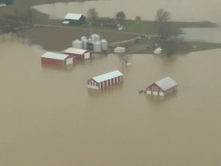 Heavy flooding and rain covers parts of the South