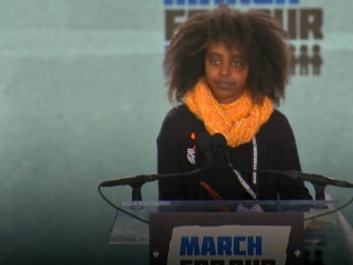 11-year-old at anti-gun rally boldly calls for recognition of black victims