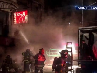 Firefighter killed fighting five alarm fire on New York City movie set