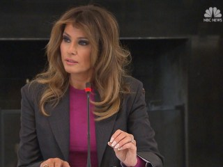 Melania Trump says she's aware people are skeptical of her anti-cyberbullying campaign