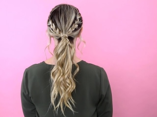 How to create a gorgeous braided ponytail in seconds