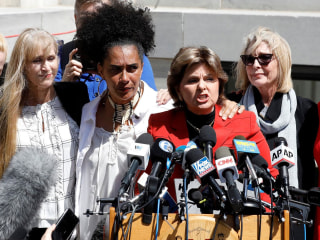'We are not going away': Cosby accusers speak after guilty verdict
