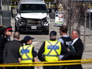 At least 10 dead as driver rams pedestrians in Toronto