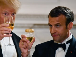 Trump hosts first state dinner for French President Macron